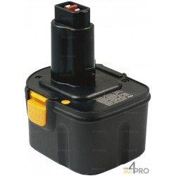 Batterie Ni-Cd 12 V 2 A de rechange pour Berner, Dewalt et Wurth