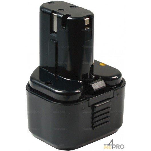 Batterie Ni-mH 9,6V 3,0 Ah de rechange pour Hitachi et Wurth