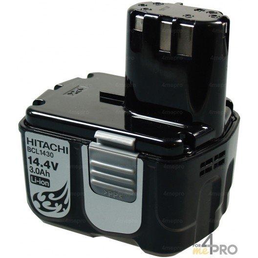 Batterie Li-Ion 14,4V 3,0 Ah de rechange pour Hitachi
