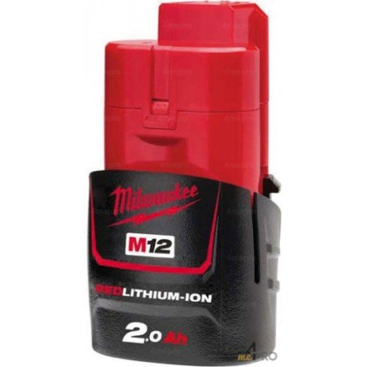 Batterie Li-Ion 12 V 2 A de rechange pour Milwauke