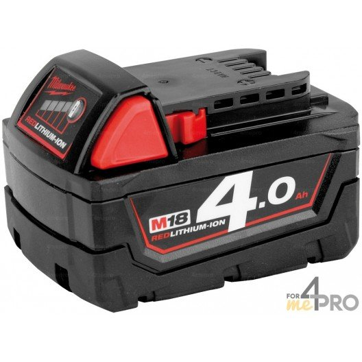 Batterie Li-Ion 18 V 4 A de rechange pour Milwauke