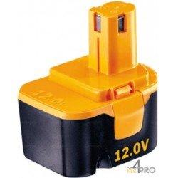 Batterie Ni-Cd 12 V de rechange pour Ryobi