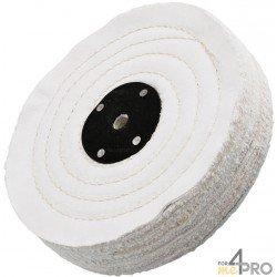 Disque toile en coton écru 100x25 mm