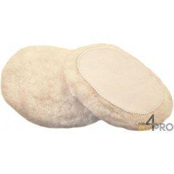 Bonnet noir en peau de mouton avec fixation velcro 150 mm