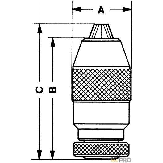 Mandrin auto-serrant série industrie DIN B12 - capacité 0 à 6 mm