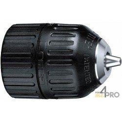 """Mandrin sans clé - montage hexagonal mâle 1/4"""" DIN 3126 - E 6.3 - capacité 1.5 à 10 mm"""