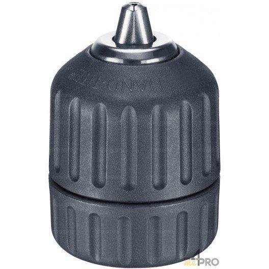 """Mandrin sans clé carbure avec verrouillage du serrage et chemise acier/nylon - montage 3/8""""x24 - capacité 1.5 à 10 mm"""