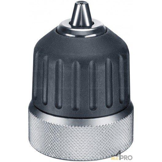 """Mandrin sans clé carbure avec verrouillage et chemise acier/nylon - montage 3/8""""x24 - capacité 1.5 à 10 mm"""