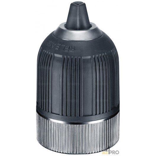 """Mandrin sans clé carbure avec verrouillage et chemise acier/nylon - montage 1/2""""x20 - capacité 1.5 à 13 mm"""