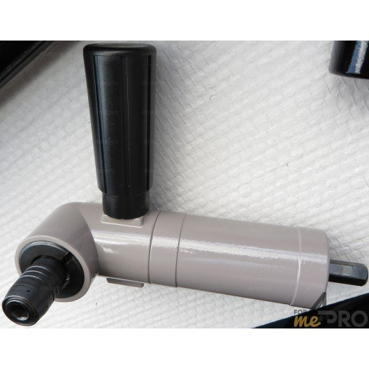 Renvoi d'angle à 90° 100 Nm à montage hexagonal 9 mm pour porte embout de vissage à changement rapide