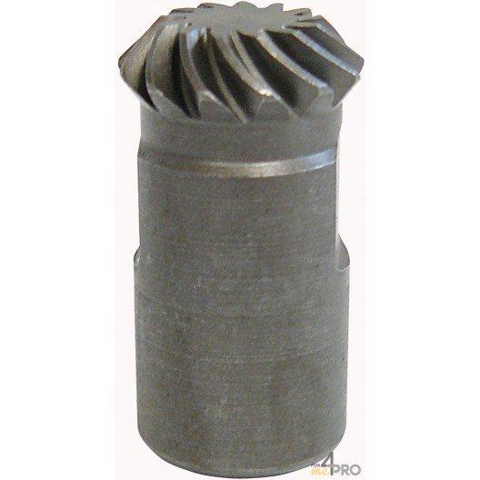 Arbre avec roue dentée conique en acier trempé