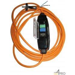 Câble électrique en polyuréthane 5 m norme HO5BQF en 2x1