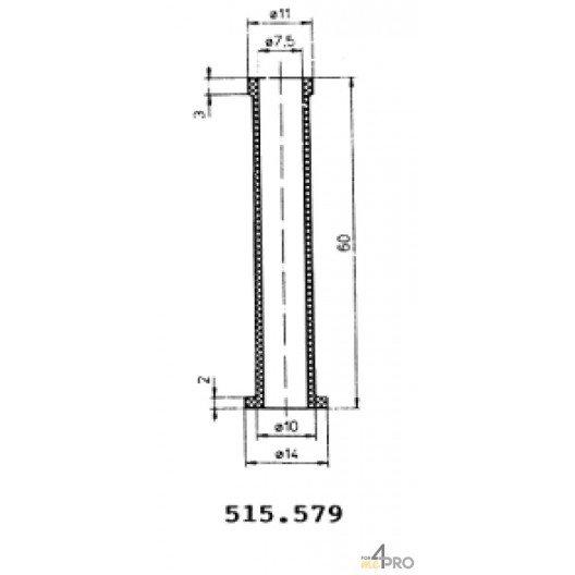 Protecteurs en caoutchouc polychloroprène 60 mm