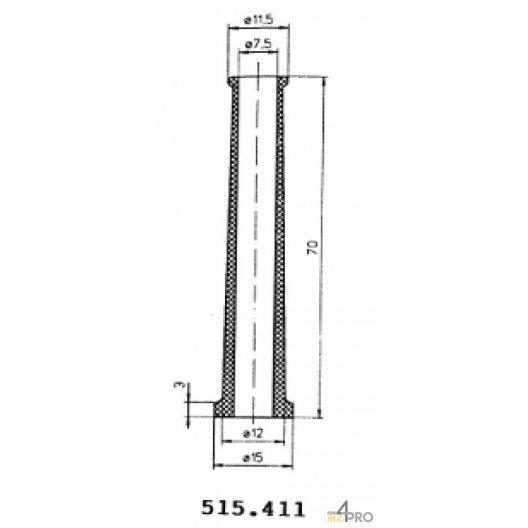 Protecteurs en caoutchouc polychloroprène 70 mm