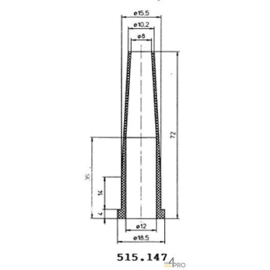 Protecteurs en caoutchouc polychloroprène 72 mm