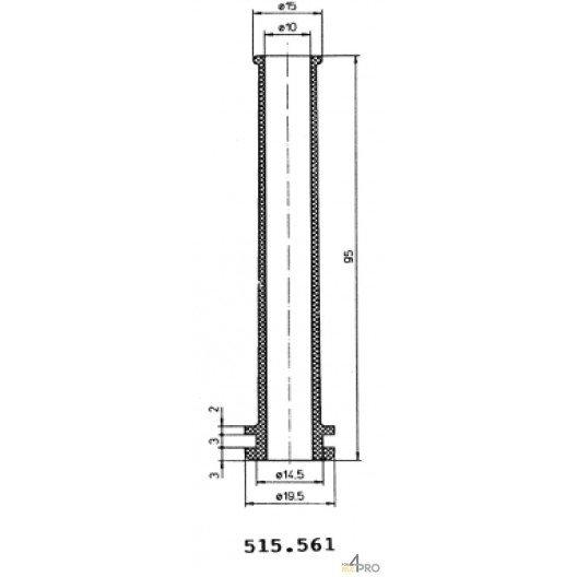 Protecteurs en caoutchouc polychloroprène 95 mm