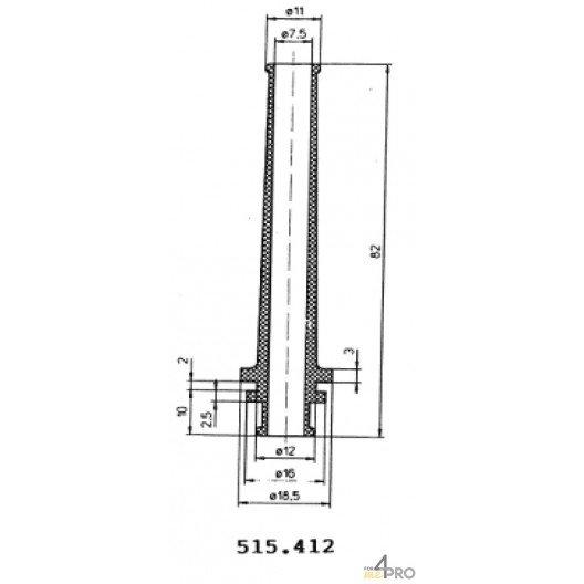 Protecteurs en caoutchouc polychloroprène 82 mm