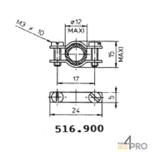 Protecteurs en caoutchouc polychloroprène 12 mm
