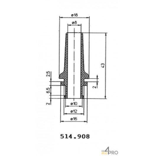 Protecteurs en PVC souple 43 mm