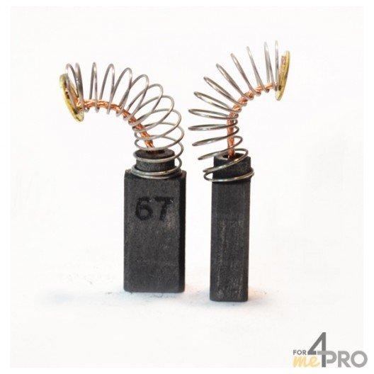 Balai charbon pour outils BOSCH 6,4 x 6,4 x 15,5 mm