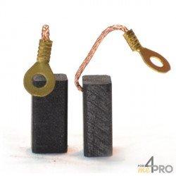 Balai charbon pour perceuses BOSCH 6,4 x 8 x 16,5 mm
