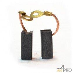 Balai charbon pour outils BOSCH (ELECTRONIC, GSR 6-6 KE, PWS 115)