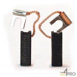 Balai charbon pour perceuses BOSCH/CASALS 6,4 x 6,4 x 20 mm
