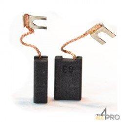 Balai charbon pour perceuses et meuleuses BOSCH 6,4 x 12,5 x 19 mm