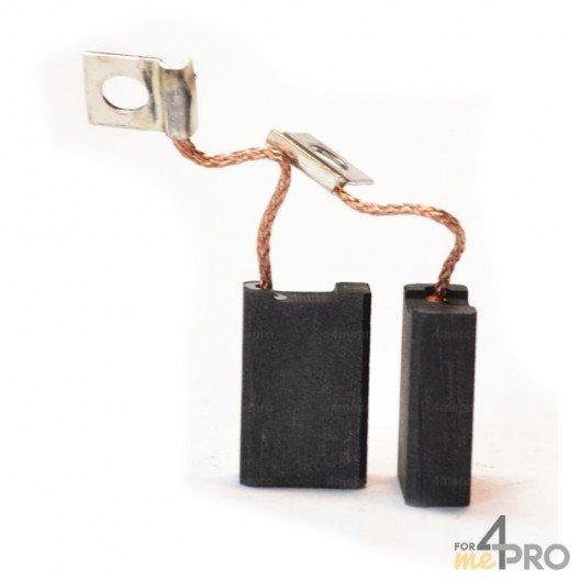 Balai charbon pour marteaux et meuleuses BOSCH/SPIT 6,4 x 12,5 x 19 mm