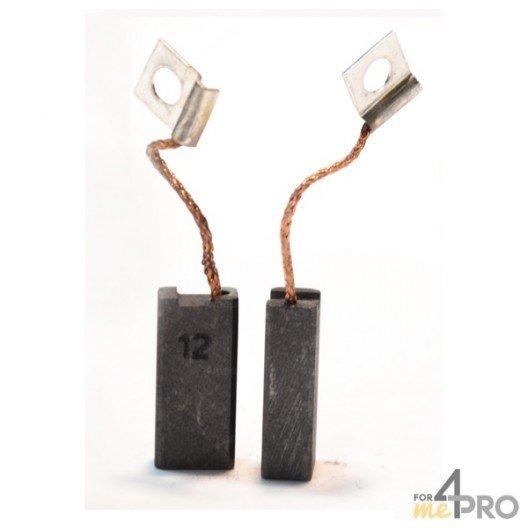 Balai charbon pour outils BOSCH 6,3 x 10 x 21,5 mm