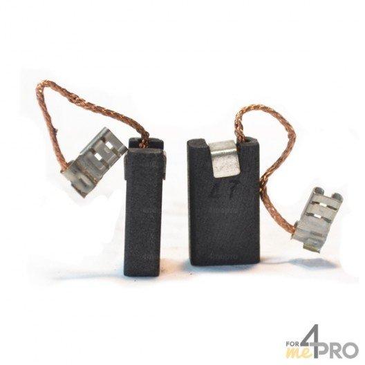 Balai charbon pour marteaux BOSCH/SPIT 6,3 x 12,5 x 22 mm
