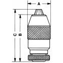Mandrin auto-serrant DIN B18 trempé rectifié - capacité 3 à 16 mm